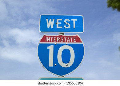 West on Interstate Highway 10, the Christopher Columbus transcontinental Highway