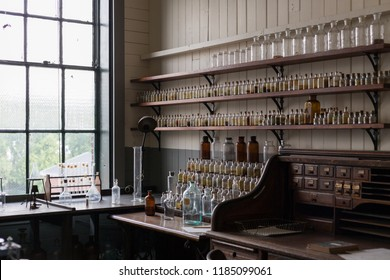 West Orange, New Jersey, September 19, 2018:Thomas Edison National Historical Park preserves Thomas Edison's laboratory and residence, Glenmont, in Llewellyn Park in West Orange in Essex County,