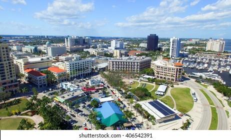 West Palm Beach aerial view, Florida.