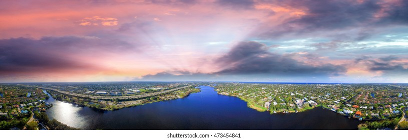West Palm Beach from the air.