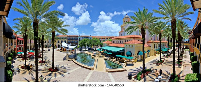 WEST PALM BEACH, FLORIDA - JUNE 26: City Place June 26, 2013 in West Palm Beach, FL. The mixed-use development is an upscale downtown lifestyle center opened in 2000.