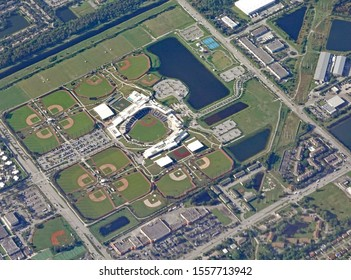WEST PALM BEACH, FL/USA - NOVEMBER 8, 2019:The Houston Astros and Washington Nationals welcome fans to FITTEAM Ballpark of the Palm Beaches! The Spring Training complex.