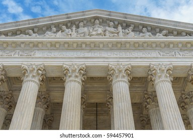 The West Pediment of the U.S. Supreme Court -- Equal Justice Under Law