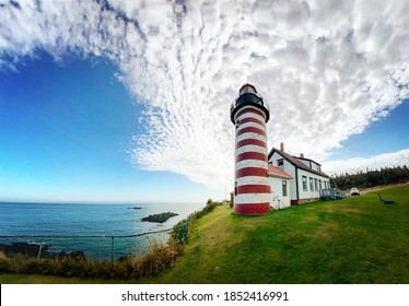West Quoddy Head Lighthouse in Lubec, Maine