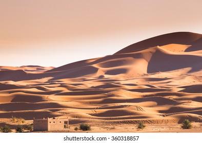 West sahara desert landscape,