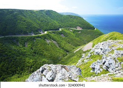 West side of Cabot Trail in Cape Breton Highlands National Park, Nova Scotia, Canada