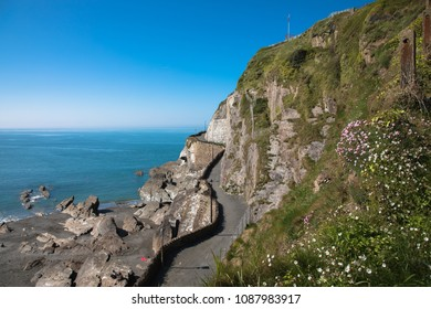 The west side of Capstone Hill looking out to sea, Ilfracombe, Devon, UK