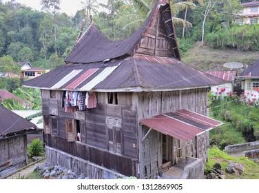WEST SUMATRA, Indonesia - FEBRUARY 14, 2019 : Pariangan the Beautiful Minangkabau village at Tanah Datar West Sumatra.
