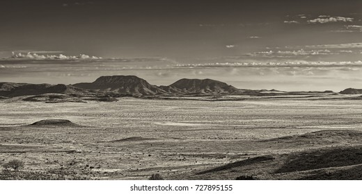 """""""West Texas Plains"""" Another panoramic view of the vast plains in West Texas, near Fort Davis."""