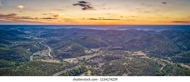 West Texas Sunset Over The Hill Country