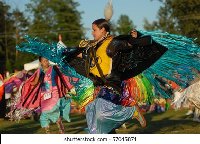 WEST VANCOUVER, BC, CANADA - JULY 10: Native Indian women dance during annual Squamish Nation Pow Wow on July 10, 2010 in West Vancouver, BC, Canada