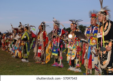 WEST VANCOUVER, BC, CANADA - JULY 10: Native Indians participate in annual Squamish Nation Pow Wow on July 10, 2010 in West Vancouver, BC, Canada