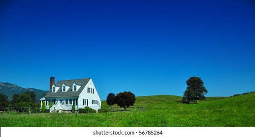 west Virginia country home on a blue sky