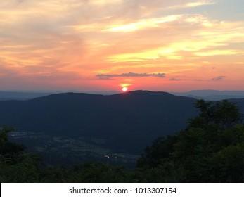 West Virginia Mountain Sunset