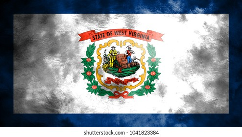 West Virginia state grunge flag, United States of America