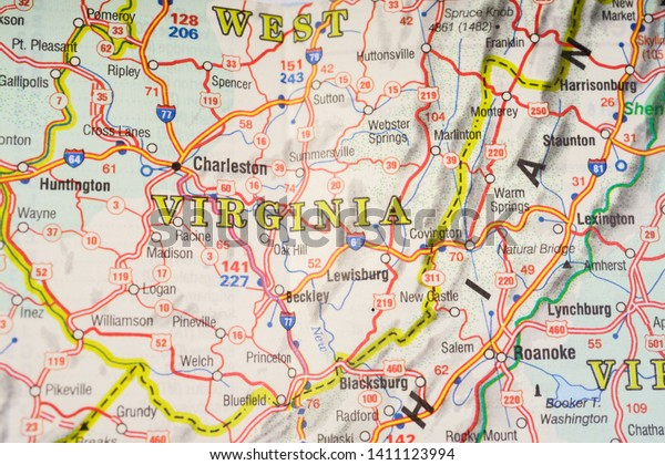 West Virginia State On Usa Map Stock Photo (Edit Now) 1411123994