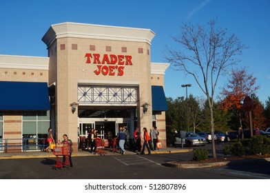 WEST WINDSOR, NJ -6 NOV 2016- A Trader Joe store on a sunny fall afternoon. Trader Joe is an American specialty grocery store based in California.