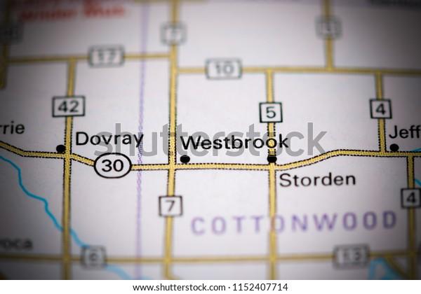 Westbrook. Minnesota. USA on a map