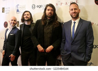 WESTBURY, NY - NOV 8: Taking Back Sunday attends the 2018 Long Island Music Hall of Fame ceremony at The Space at Westbury on November 8, 2018 in Westbury, New York.