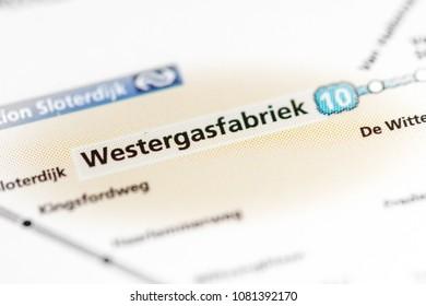 Station Sloterdijk Station Amsterdam Metro Map Stock Photo Royalty