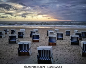 Westerland beach at sunset, Germany