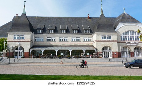 Westerland, Sylt, Germany – May, 2010: The Old Kurhaus in Westerland on the Island of Sylt was built in 1897. Today it houses the town hall of Sylt, a famous gallery and a casino.
