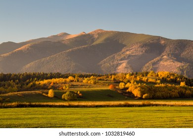 Westerm Tatras mountain range in Autumn colors, Slovakia