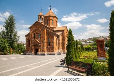 Western Asia,Eurasia,South Caucasus, Republic of Armenia. Yerevan, Nork-Marash district. Exterior view of the Surb Astvatsatsin Church.