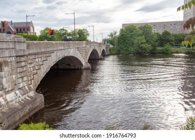 Western Avenue  Bridge  and Charles River - Cambridge - MA