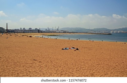 the western city beach in Gijon, the northern Spain
