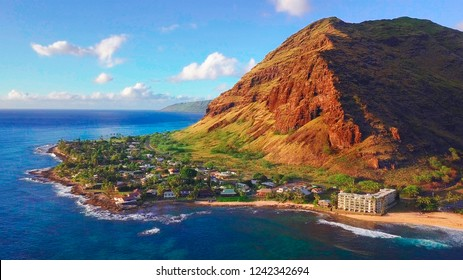 Western coast of the island of Oahu. Hawaii