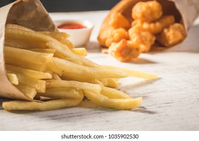 Western fast food french fries