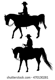 Western Horse Silhouettes