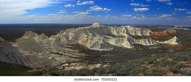 Western Kazakhstan. The plateau of Aktagayai.