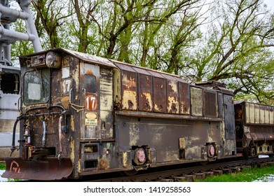 Western Museum of Mining & Industry, Colorado Springs, Colorado, USA - 5/2019: Old train used for transporting rock in from a gold mine