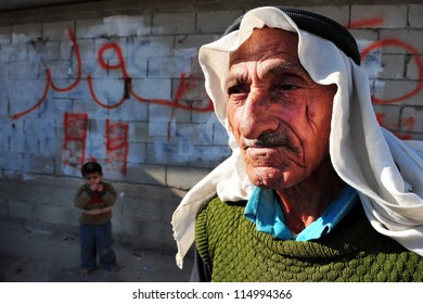 WESTERN NEGEV - NOVEMBER 26:Bedouin man traditionally dressed on November 26 2008. The nomadic Arabs live by rearing livestock in the deserts of southern Israel.