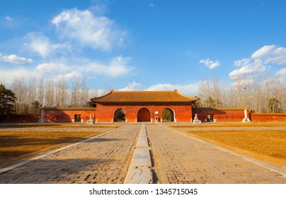Western Qing Mausoleums –The building in the main way . The Wastern Qing Mausoleums is one of the last dynasty Mausoleum area in China. It is located in Yixian, Hebei, China.