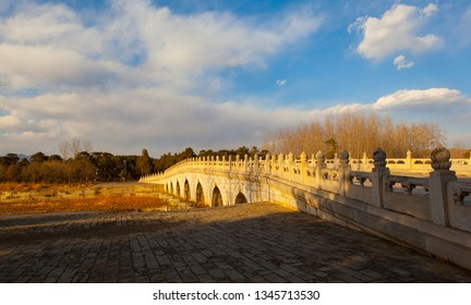 Western Qing Mausoleums –The stone bridge in the main way . The Wastern Qing Mausoleums is one of the last dynasty Mausoleum area in China. It is located in Yixian, Hebei, China.