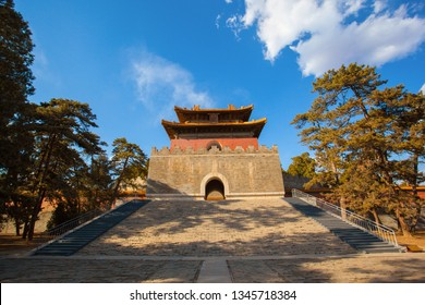 Western Qing Mausoleums - Tai Mausoleum(Yong Zheng) scenery in the afternoon. The Wastern Qing Mausoleums is one of the last dynasty Mausoleum area in China. It is located in Yixian, Hebei, China.