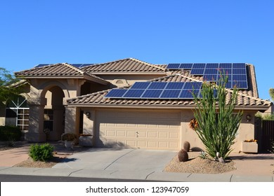 Western Ranch Style House with Solar Panels