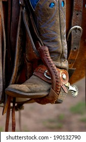 A western riding boot with spur