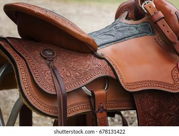 Western Saddle Close-up