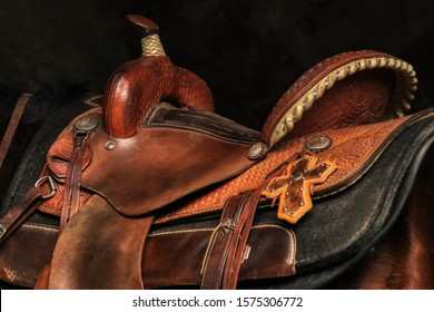 western saddle portrait in montana