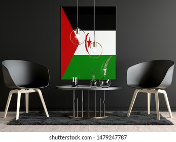 Western Sahara Flag in Room, Western Sahara Flag in Photo Frame
