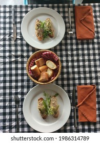 western style dishes , frech food,