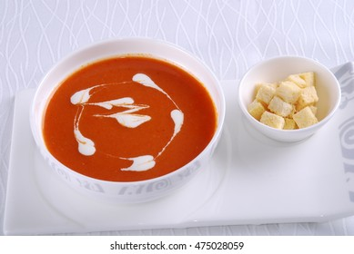 Western style soup with cream soup and mushroom soup