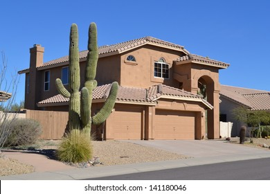 Western Two-Story House in Arizona