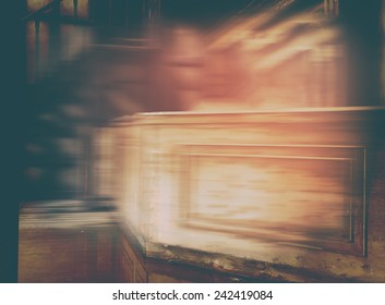 Western vintage saloon blurred pink abstraction