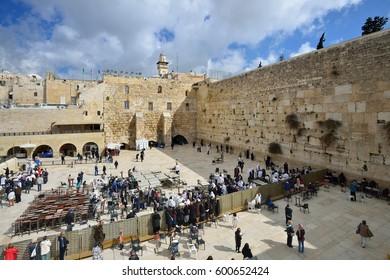 Western wall, Jerusalem, Israel, 21th March 2016