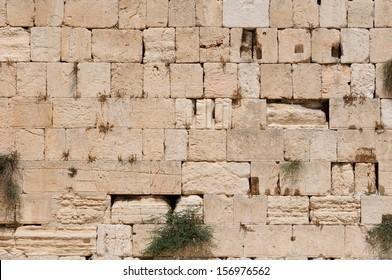 The Western Wall, Kotel Wailing Wall. Jerusalem. Israel.